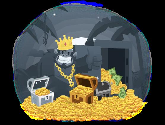 bitkong bitcoin game bonus free money chest monkey corona